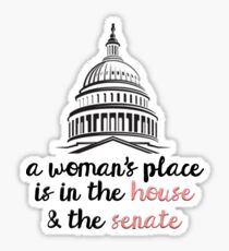A Woman's Place Sticker