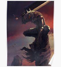 Guts On His Berserk Armor Poster