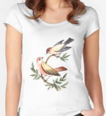 Bird lovers Women's Fitted Scoop T-Shirt