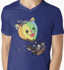 Kitten Balloon V-Neck T-Shirt