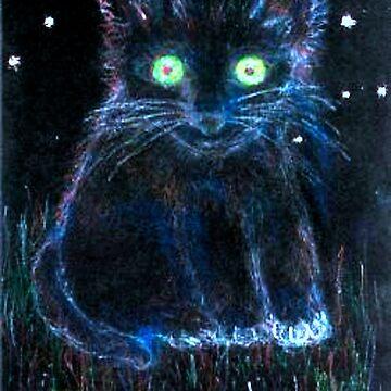"""Galaxy Kitty Cat"" by MardiGCalero"