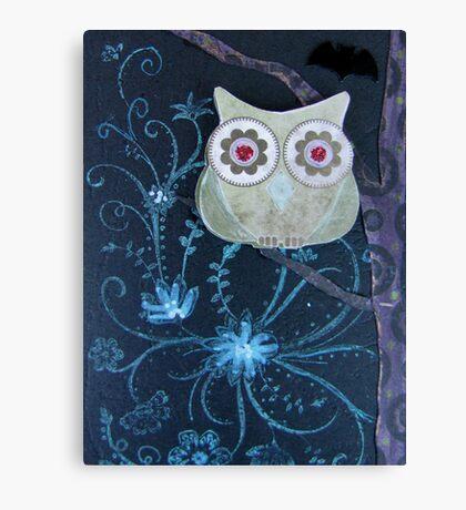 Owl of Paper n Ink Canvas Print