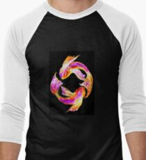 Night 'Tails' - Koi Baseball ¾ Sleeve T-Shirt
