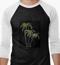 Rainbow Palm Trees Men's Baseball ¾ T-Shirt