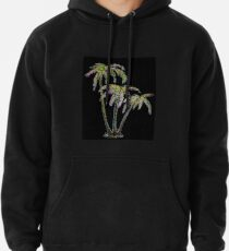 Rainbow Palm Trees Pullover Hoodie