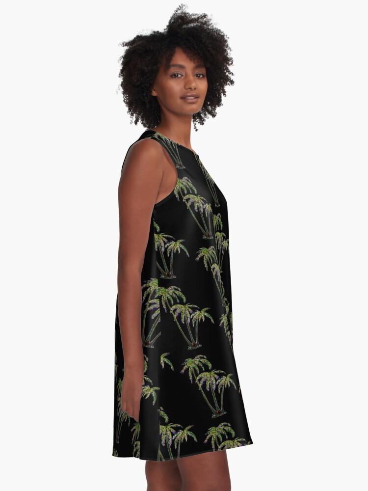 Alternate view of Rainbow Palm Trees A-Line Dress