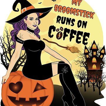 Halloween Coffee Witch by ZNOVANNA