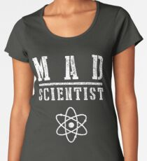 Mad Scientist - Funny Halloween Costume Women's Premium T-Shirt