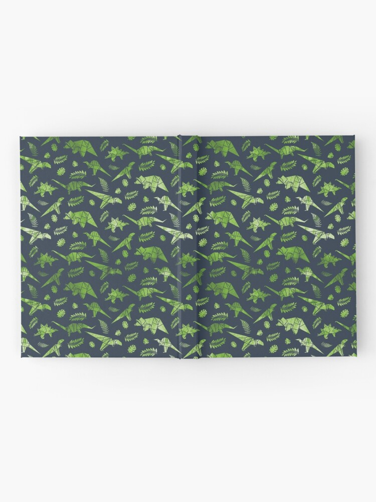 Vista alternativa de Cuaderno de tapa dura Patrón de dinosaurios de origami