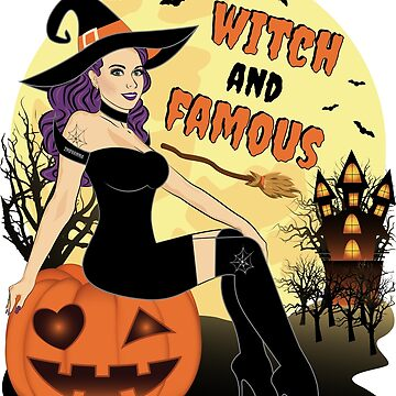 Halloween Beautiful Witch And Famous by ZNOVANNA