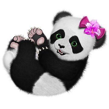 Baby Girl Panda Bear by ratherkool