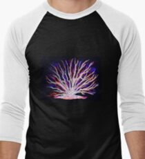 Sea Coral - Neon Men's Baseball ¾ T-Shirt