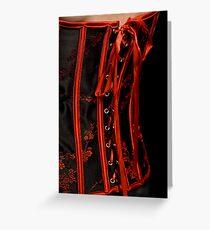 Close up corset Greeting Card