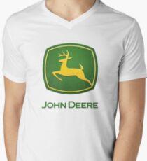 John Deere Logo Men's V-Neck T-Shirt