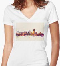 San Francisco City Skyline Women's Fitted V-Neck T-Shirt