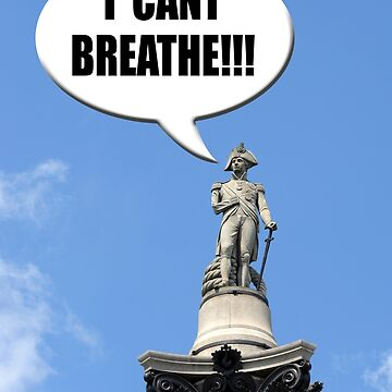 "London UK. Nelson's Column Nelson shouts out ""I CANT BREATHE!!!"" concept inner city air pollution. by funkyworm"