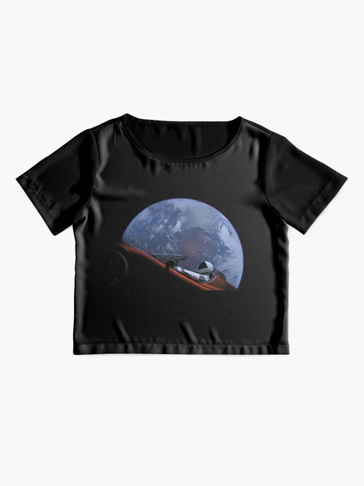 Alternative Ansicht von Spacex Starman im Orbit Chiffon Top
