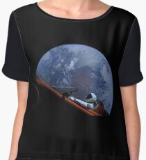 Spacex Starman In Orbit Chiffon Top