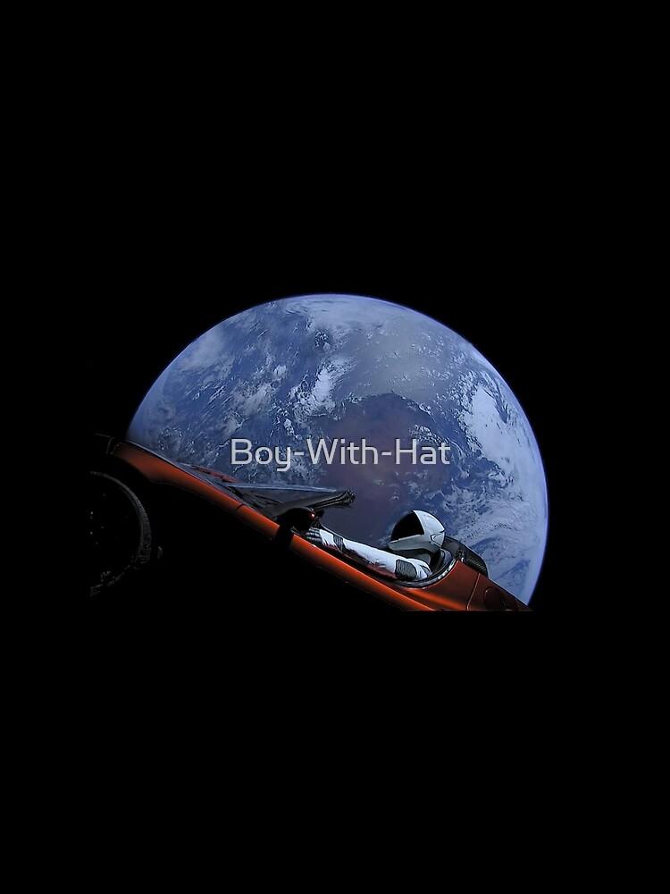 Spacex Starman im Orbit von Boy-With-Hat