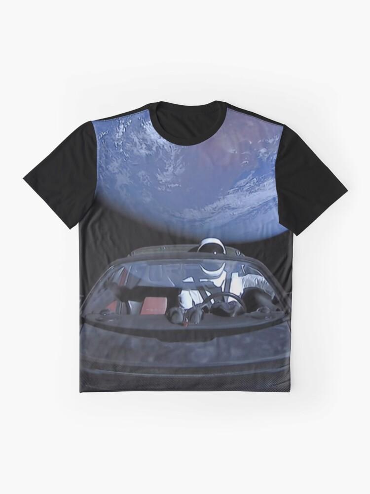 Alternative Ansicht von Spacex verlässt die Erde Grafik T-Shirt