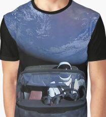 Spacex verlässt die Erde Grafik T-Shirt
