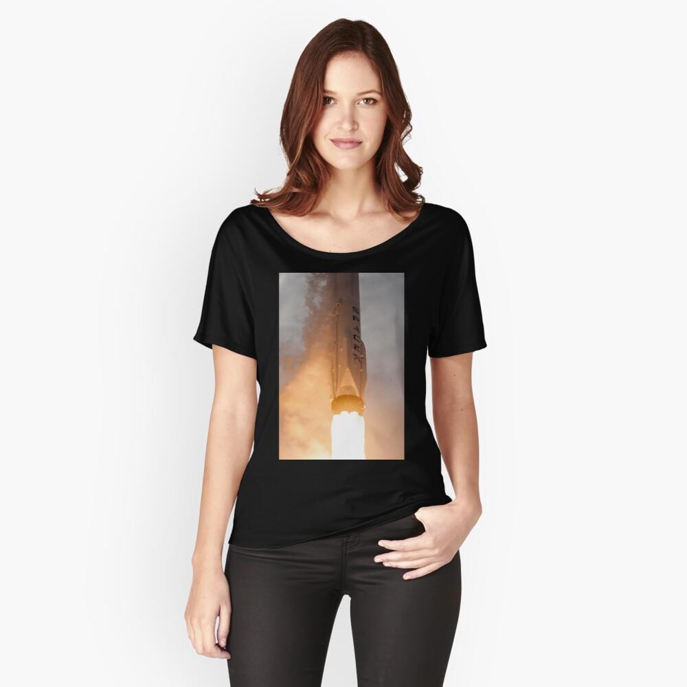 Spacex Rakete Loose Fit T-Shirt
