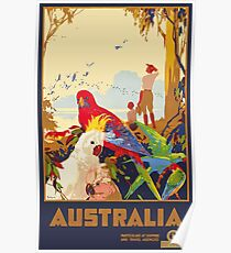 Vintage Travel Poster Australia - Wildlife.  Poster