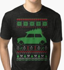 Mini Classic Christmas Ugly Sweater XMAS Tri-blend T-Shirt