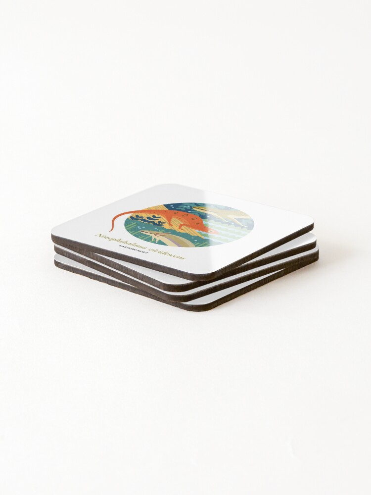 Alternate view of The Circles of Life: Eastern Newt Coasters (Set of 4)
