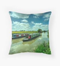 Narrowboats on the K and A  Throw Pillow