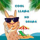 NO Drama, Smokin Llama by tinymystic