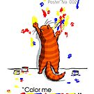 Happy Cat Poster No. 002 - Color Me Creative by Martine Carlsen