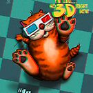 Happy Cat Poster No. 004 - In Old School 3D by Martine Carlsen