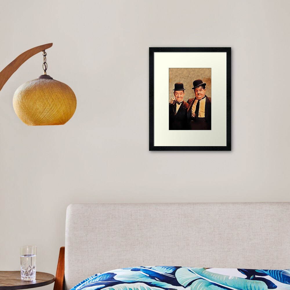Laurel and Hardy, Hollywood Legends Framed Art Print