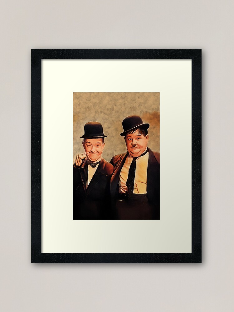 Alternate view of Laurel and Hardy, Hollywood Legends Framed Art Print