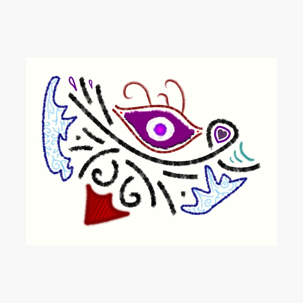 Merch #1 -- Rustic Tribal Cyclops Insignia Art Print