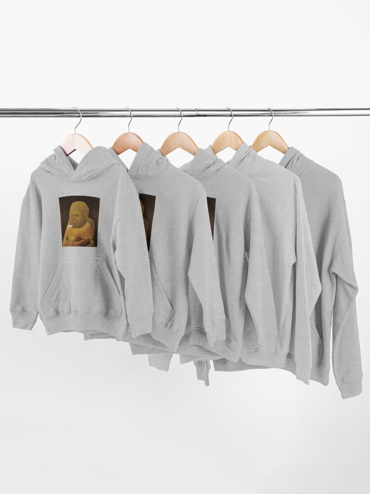 Alternate view of y tho memes medieval pope baby parody painting HD HIGH QUALITY ONLINE STORE Kids Pullover Hoodie