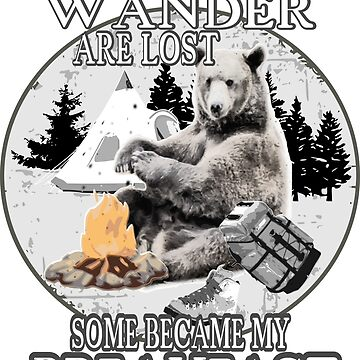 Not all who wander are lost camping bear long sleeve shirt by quatschkopp