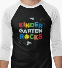 Kindergarten Rocks Little Boys and Girls School Men's Baseball ¾ T-Shirt