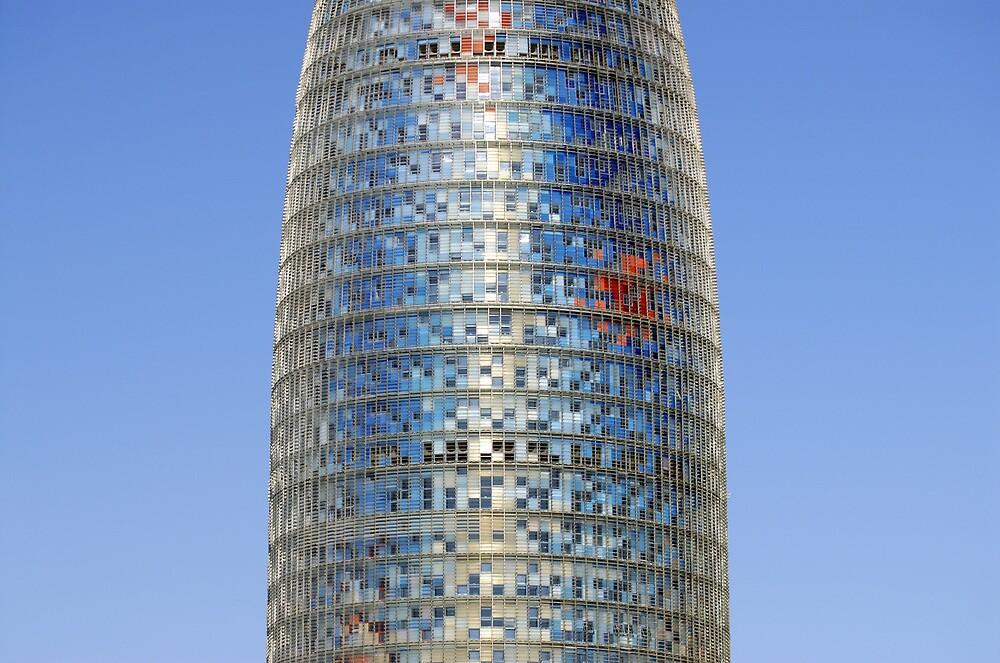 Torre (Tower) Agbar Skyscraper in Barcelona (Spain) by Petr Svarc