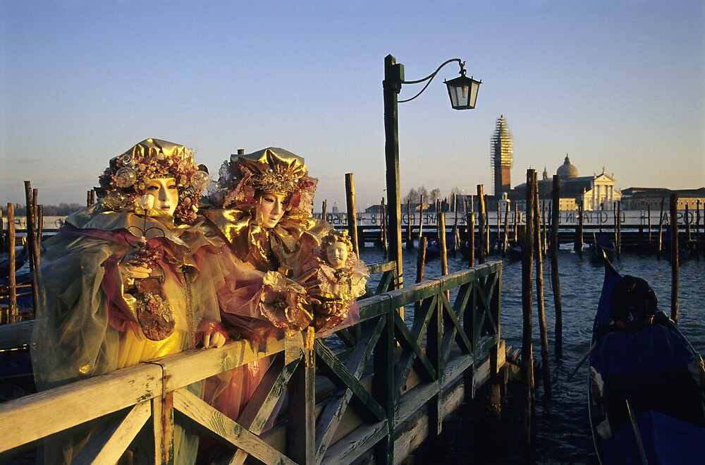 Two People in Carnival Masks, Venice (Italy)  by Petr Svarc