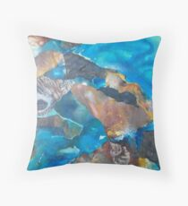 Sapphire Coast Throw Pillow