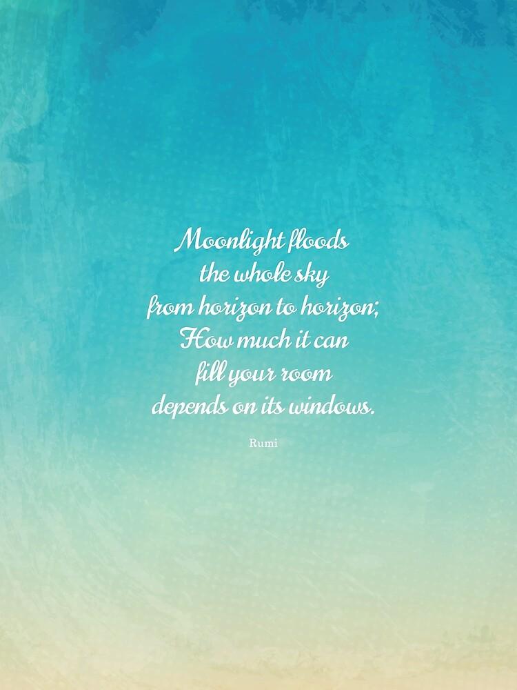 Mondschein - Schönes Zitat von Rumi von StudioCitrine