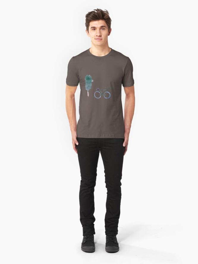 Alternate view of Tree & bike Slim Fit T-Shirt