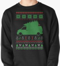 T4 Bus Van Transporter Christmas Ugly Sweater XMAS Pullover
