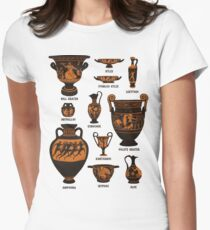 Ancient Greek Pottery Women's Fitted T-Shirt