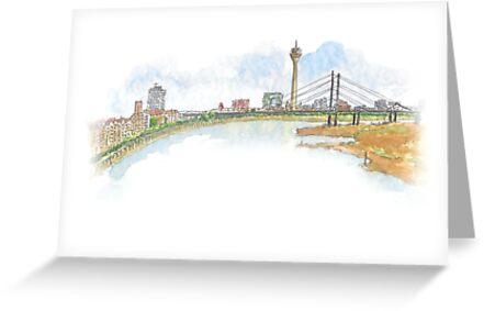 «Skyline - Düsseldorf lleva Umlaut blog» de dussllevaumlaut