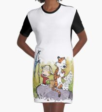 Exploring Calvin Hobbes Graphic T-Shirt Dress