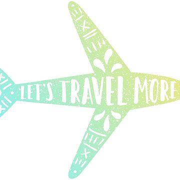 Let's travel more. Gradient plane by kondratya