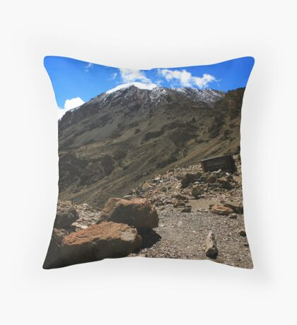 Mount Kilimanjaro Throw Pillow